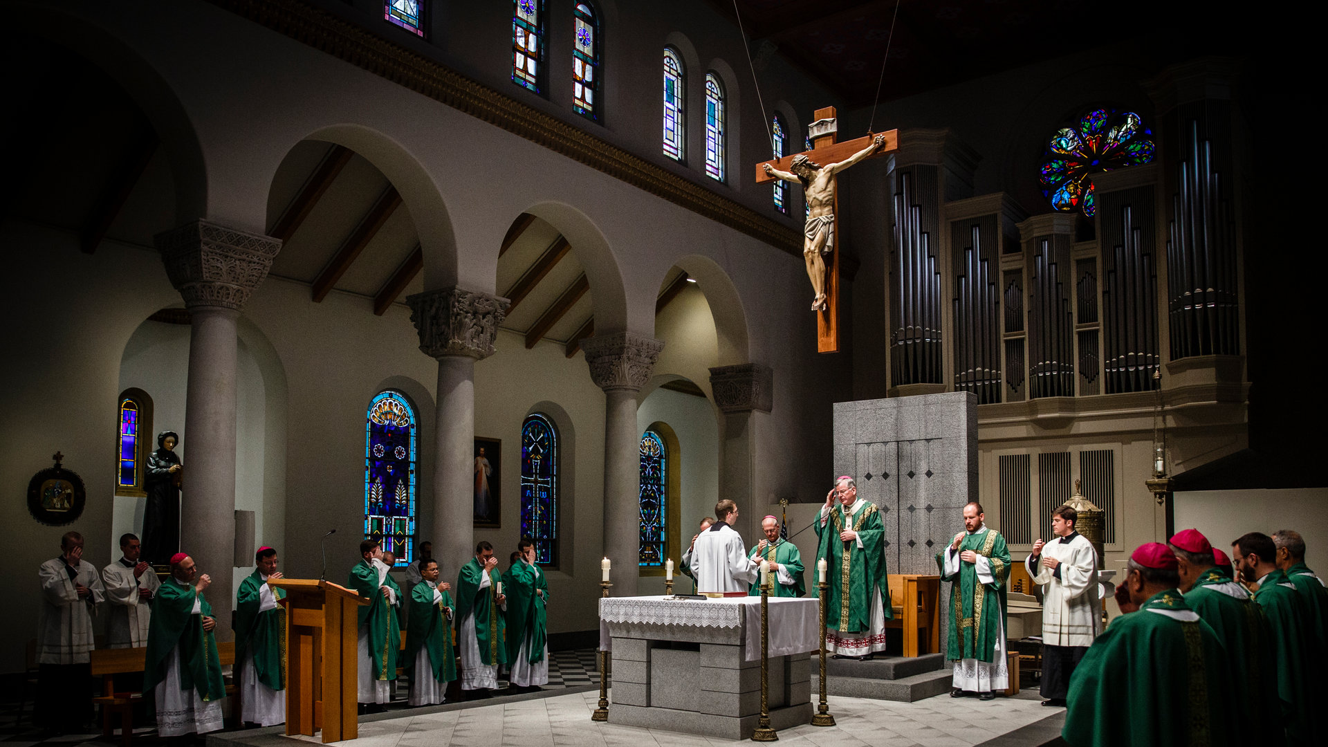 mass co-hosted by the St.Paul seminary