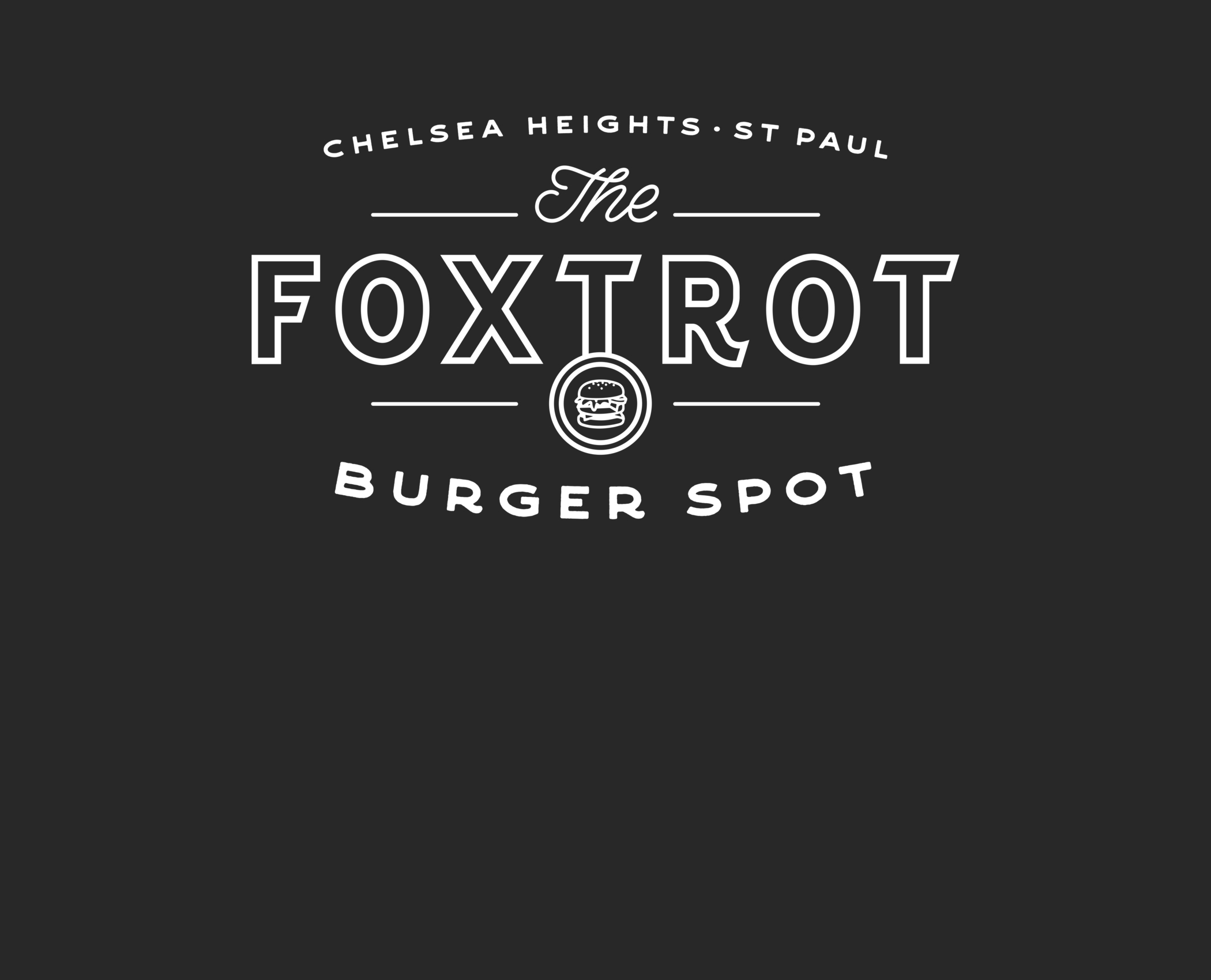 The Foxtrot Burger Spot Logo